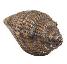 Brass Vintage Conch Shell Storage Box