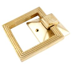 Brass Square Ring Door Pull Modern Hardware