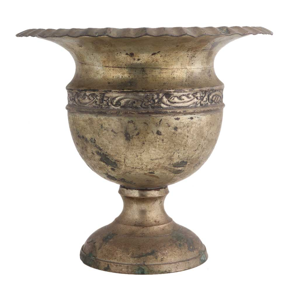 Brass Urn Shaped Planter Pot