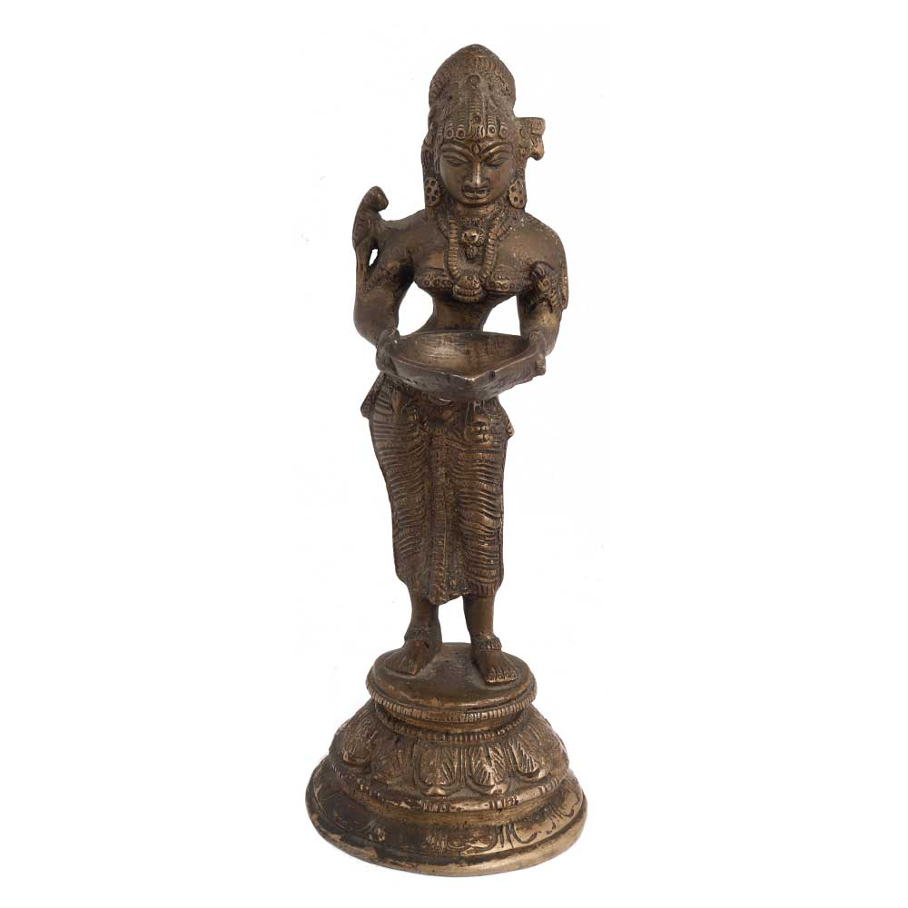 Brass Deep Laxmi Statue For Worship Or Decoration