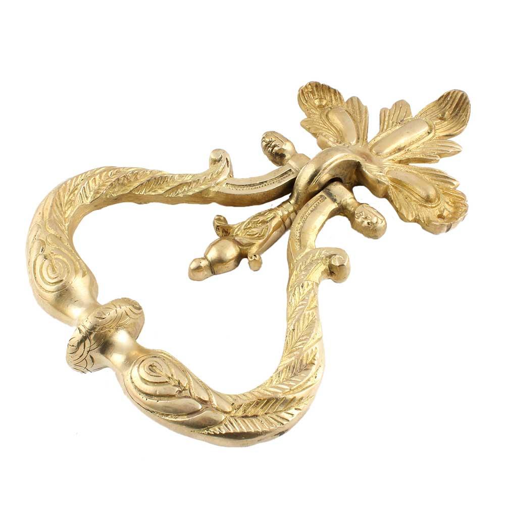 Engraved Drop Ring Drawer Pulls Knob Handle