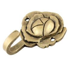 Single Mini Hook Brass Rose Shaped Wall Hook