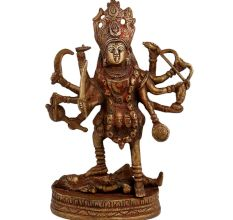 Brass Indian Shiva Kaali Vaishno Idol