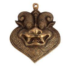 Brass Yali Face Mask Wall Hanging