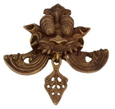 Brass Yali Face Wall And Door Hanging