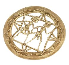 Brass Dhokra Art Hanging Tribal For Home Decoration