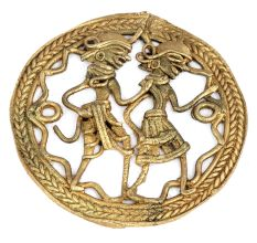 Handmade Brass Dhokra Art Rural Couple Wall Decoration