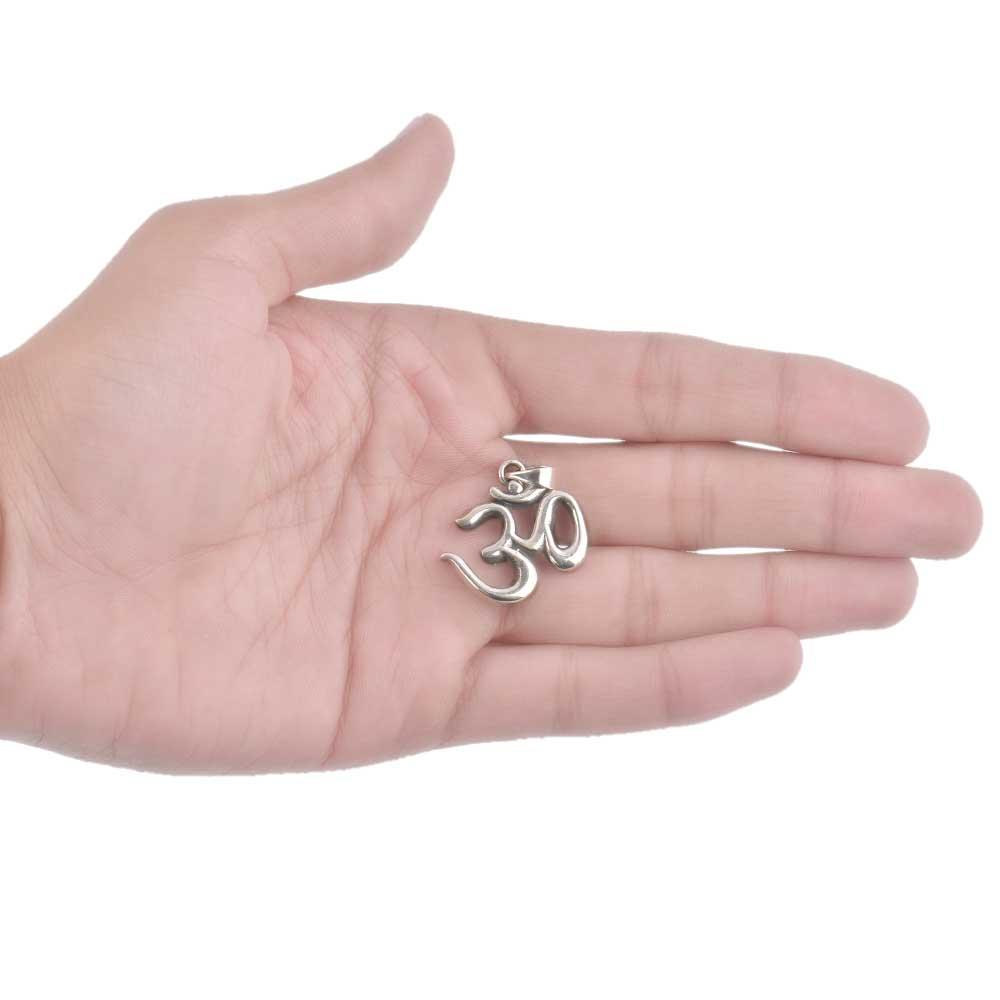 92.5 Sterling Silver Aum Sanskrit Yogi Pendant
