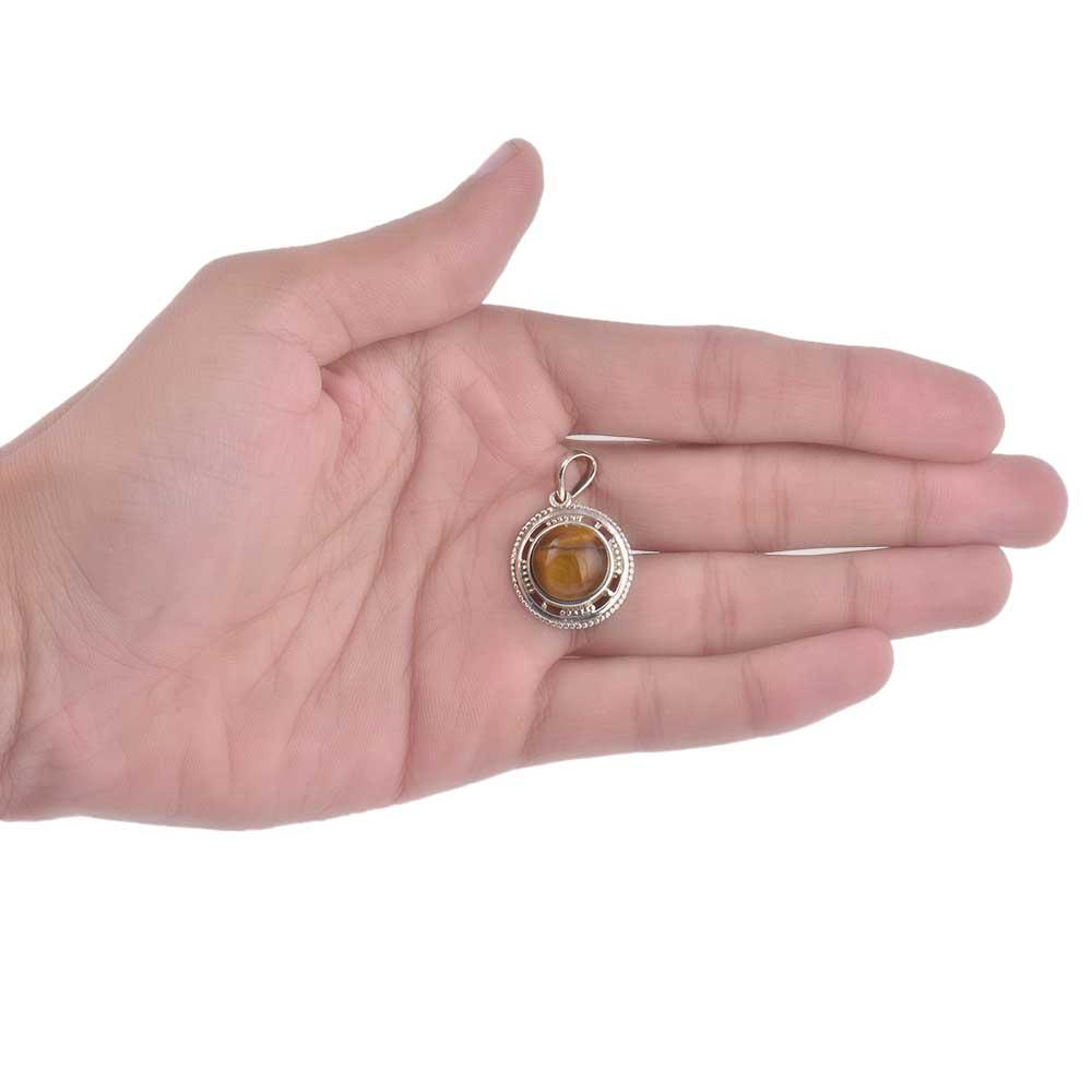 92.5 Sterling Silver Pendant Carnelian Mystical Gemstone Pendant