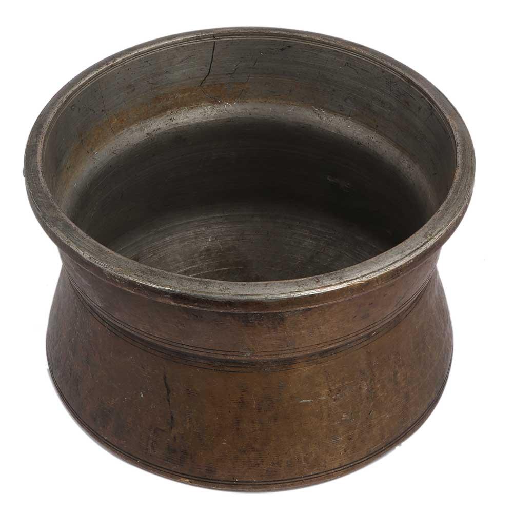 Brass Unusual Round Base Planter