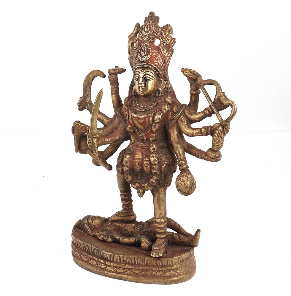 Brass Indian Shiva Kaali Vaishno Idol