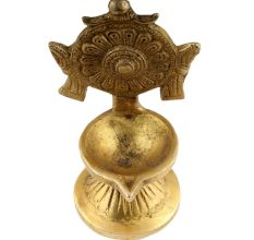 Religious Big Flower Carved Design Oil Lamp Diya