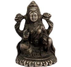 Hindu Brass Laxmi Statue For Worship And Good Luck