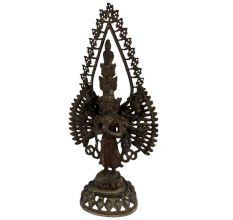 Handmade Brass Statue Of Eleven-Headed Avalokiteshvara