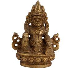 Small Handmade Brass Kuber Idol For Home Puja