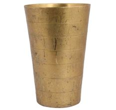 Handcrafted Brass Segmented Design Punjabi Lassi Glass Cup