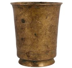 Brass Tumbler Water Glass Attached On Circular Base