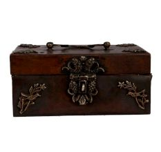 Decorative Handcrafted Brass Treasure Trunk Box