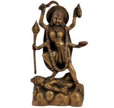 Indian Deity Brass Ma Kali Statue