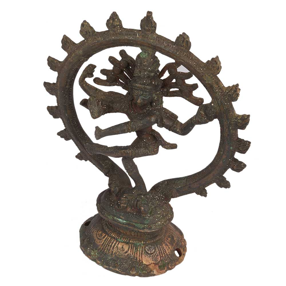 Brass Natraja Statue With Decorative Arch