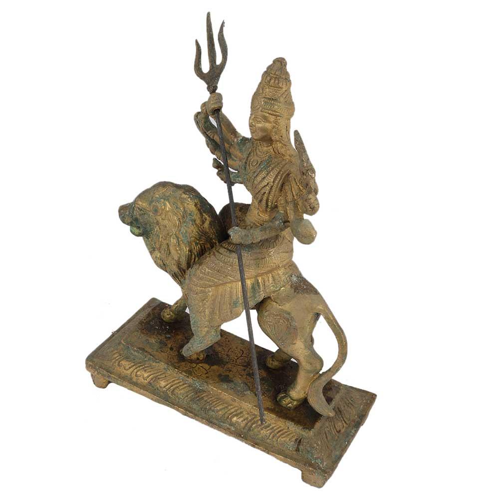 Brass Durga Maa Sherawali Statue
