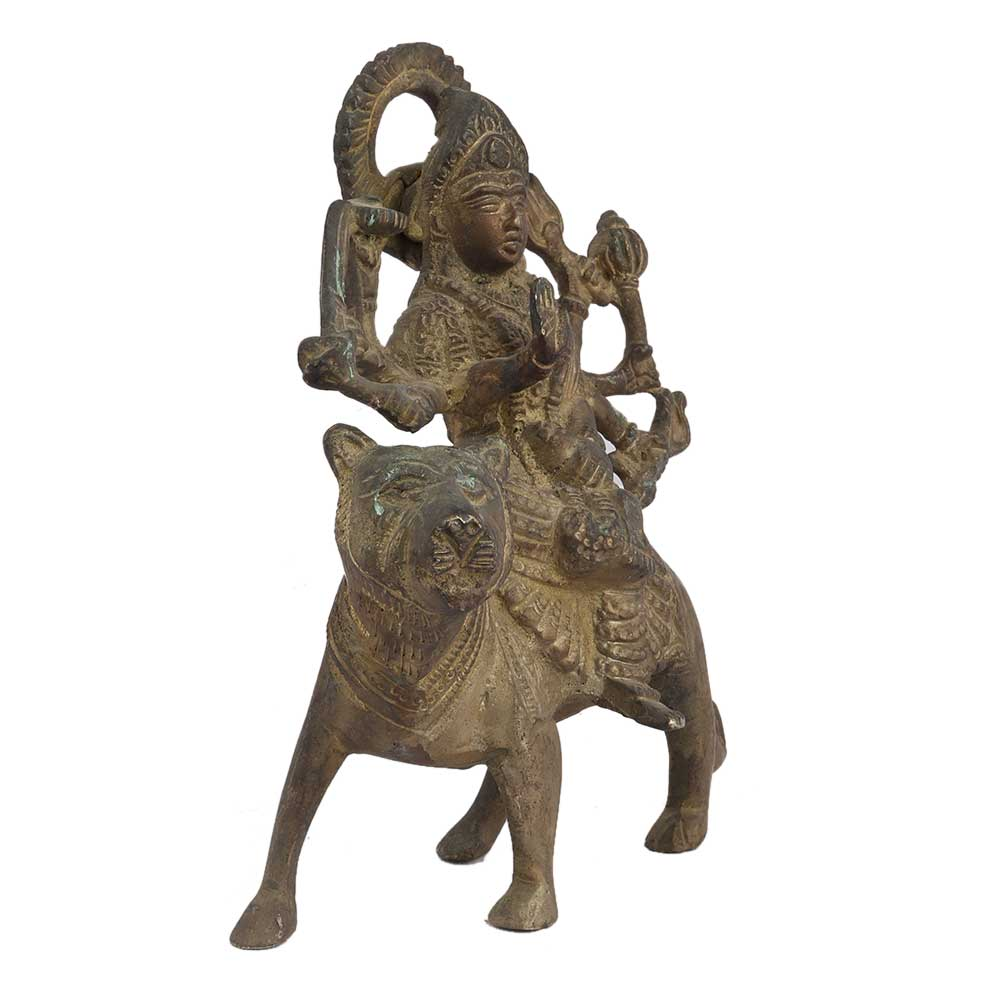 Brass Ashtabhuja Goddess Durga Statue