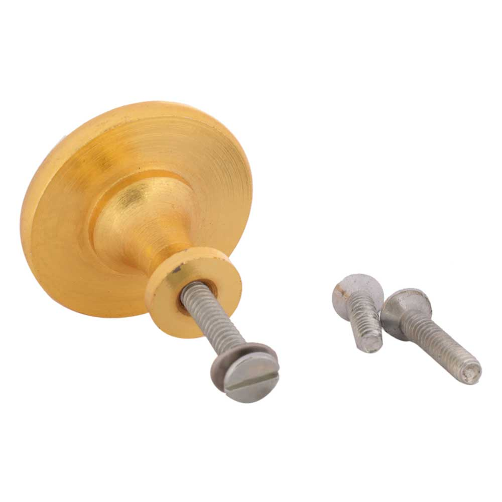 Grey Round Metal and Resin Cabinet Knobs