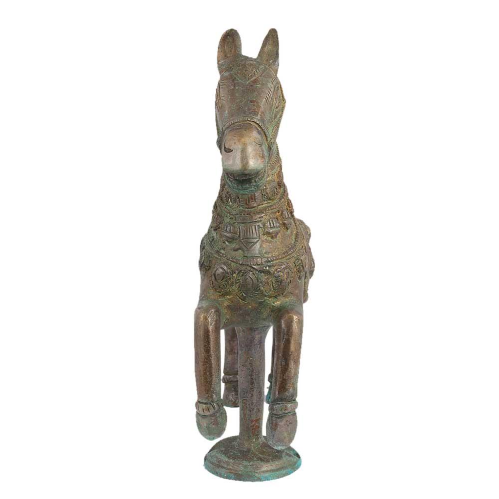Hand Made Brass Galloping Horse Sculpture