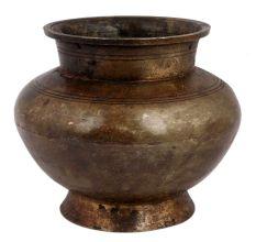 Brass Water Pot Centre Bulge Heavy Base Pot