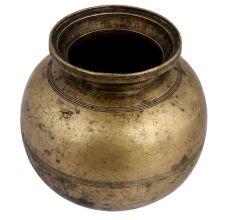 Brass Big Round Water Storage Pot