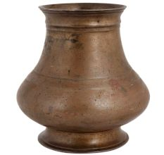 Brass South Indian Pot With Broad Round Base