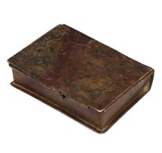 Used Brass Book Storage Box With Dents