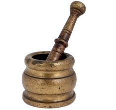 Brass Khalbatta Imam Dasta Or Mortar And Pestle