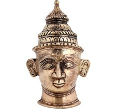 Lord Shiva Head Brass Tribal Hindu Mukhalingam Statue