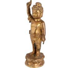 Brass Standing Cherub Statue For Gifting