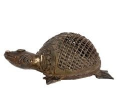 Brass Tribal Turtle Tortoise Statue