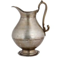 Brass Jug With Designer Handle With Nickel Finish
