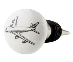 Aeroplane Flat Ceramic Wine Bottle Stopper