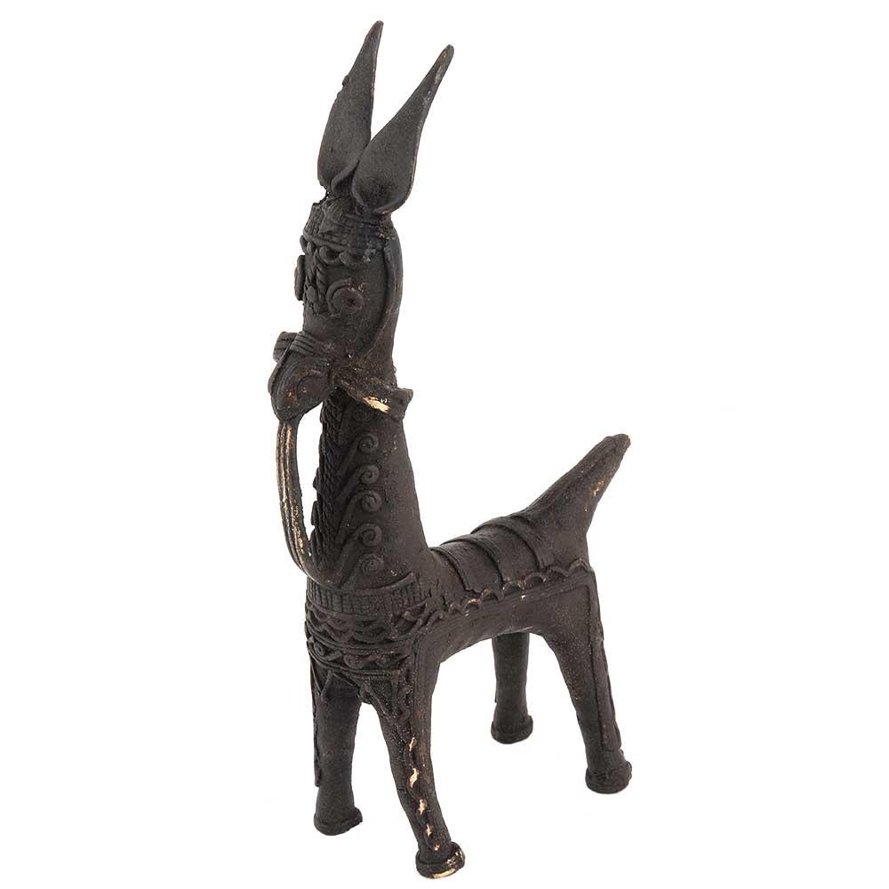 Black Brass Unusual Brass Horse Statue