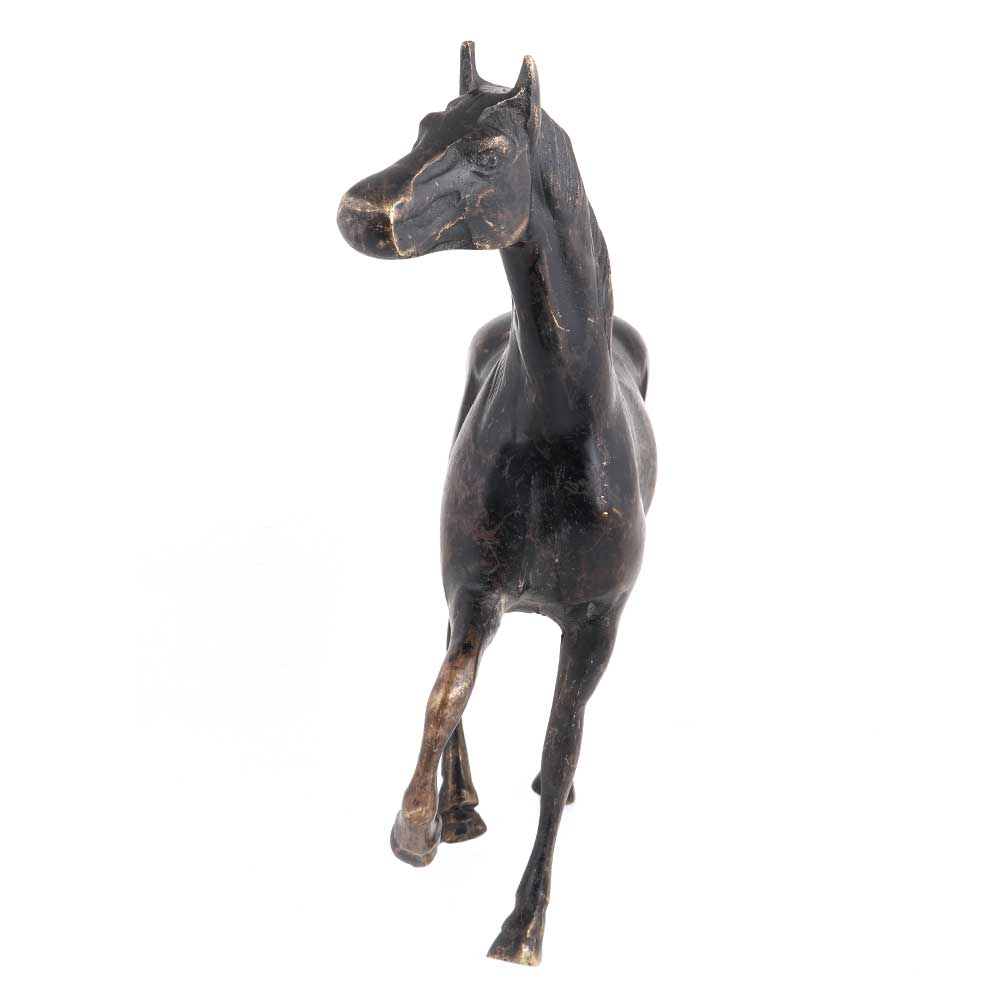 Indian Black Galloping Horse For Home Decoration