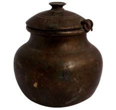 Old Brass Pot Matka With Lid