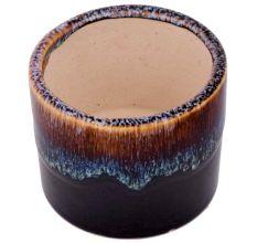 Modern Dark Brown Glazed Ceramic Pot