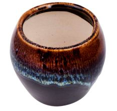 Brown Ceramic Pot For Home Decoration