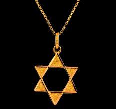 18 K Gold Star Shaped Pendant For women