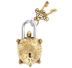 Brass Vastu Tortoise Padlock With 2 Key