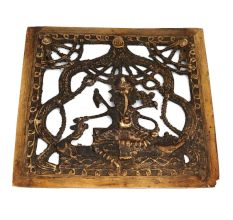 Intricately Designed And Carved Brass Ganesha Home Decor Product