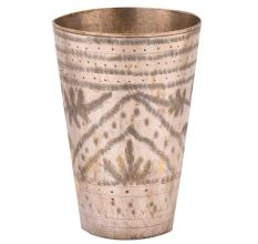 Brass Leaf In Arch And Designer Bands On Top