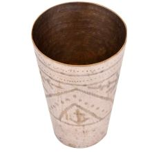 Brass Hand Engraved Brass Lassi Glass For Decoration