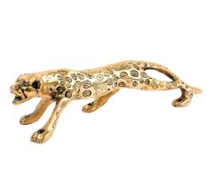 Golden Jaguar Statue Showpiece Interior Decor Item