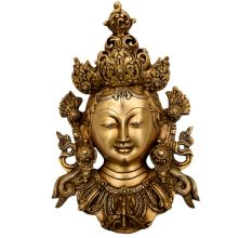 Handmade Tara Buddha Golden Face Brass Wall Hanging